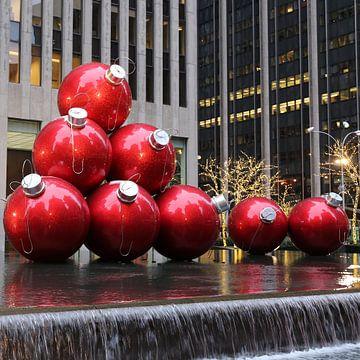 Große Weihnachtsbaumkugeln in NYC von Christine aka stine1