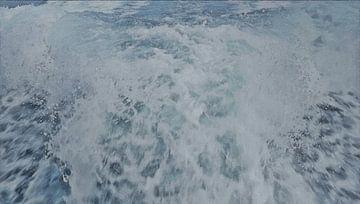 Speedboot Kielzog - Snelheid op het Water - Schilderij