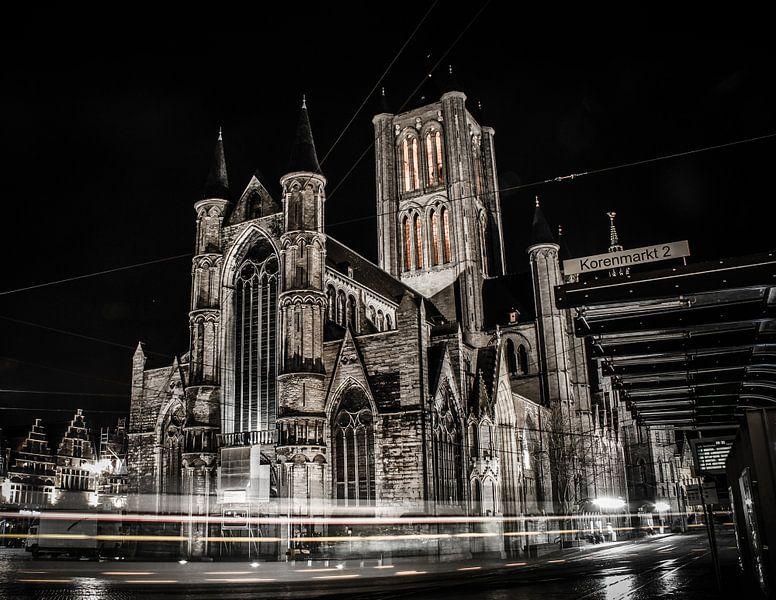 St Niklaaskerk bij nacht van Dianna Lauwereijs