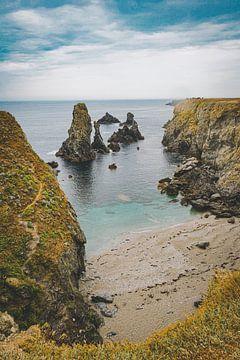 Blick auf die Klippen von Belle-Île-en-Mer, Bretagne, Frankreich von Daphne Groeneveld
