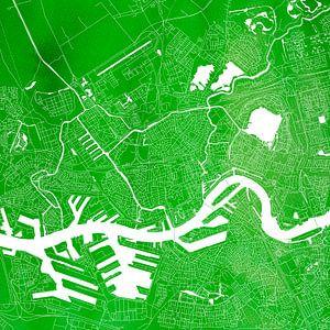 Rotterdam Stadskaart   Groen  Vierkant