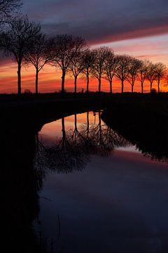 Zonsondergang van Wim van Wel