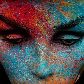 Het beschilderde gezicht van Gabi Hampe