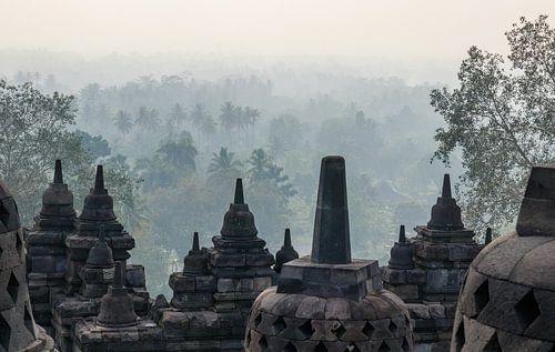 Een mystiek moment bij de Borobudur van