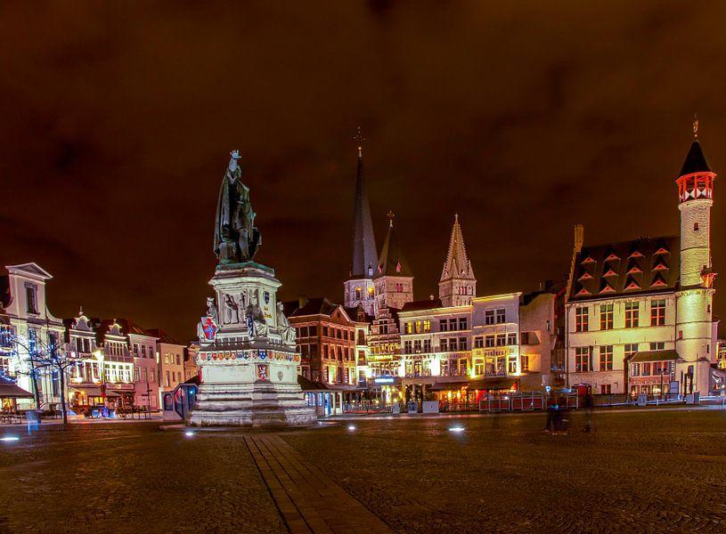 Gent bij nacht 1 van Fleksheks Fotografie