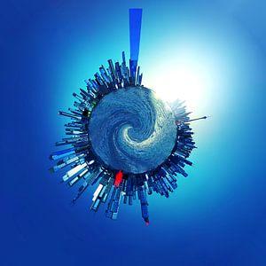 Blue city_TinyPlanet von Herman de Langen
