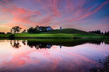 Sonnenuntergang am See von Michael Blankennagel