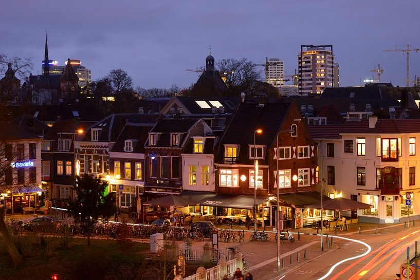 Lange Jufferstraat en Lucasbolwerk in Utrecht  van Donker Utrecht