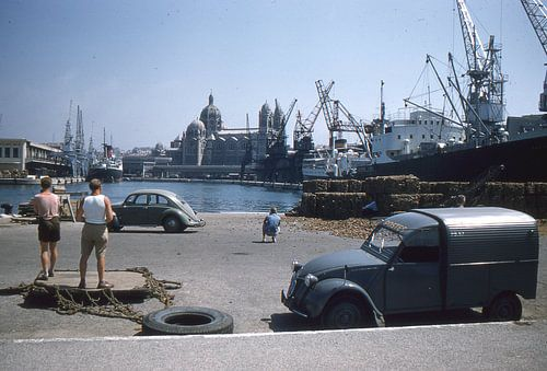 Vintage foto 1950 Marseille van