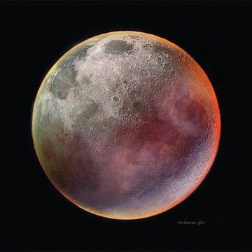 Roter Mond von Jos Verhoeven