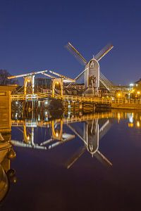 Leiden by Night - Molen de Put en Rembrandtbrug - 2