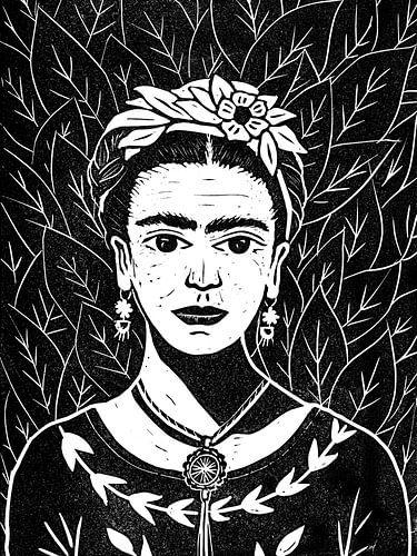 Frida linosnede van Karin van der Vegt