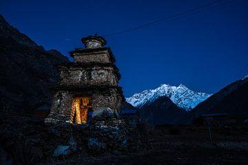 Sonnenuntergang im Himalaja. von Jeroen Cox