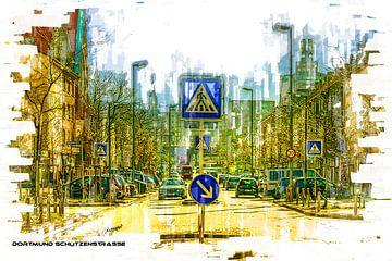 Dortmund Schützenstrasse Pop Art von Johnny Flash