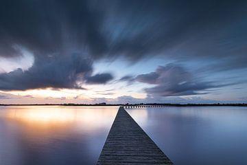 Sonnenuntergang am Dannemeer (Groningen) von P Kuipers