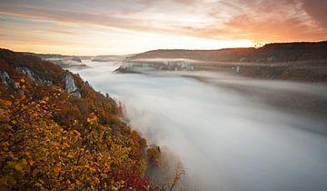 Nebelfluss der Donau von Jiri Viehmann