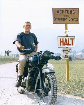 Steve McQueen in Gesprengte Ketten (1963) von Bridgeman Images