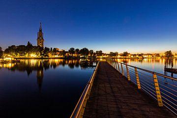 Potsdam Skyline an der Havel zur blauen Stunde