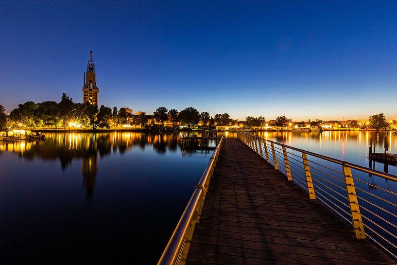 Le ciel de Potsdam sur la Havel à l'heure bleue sur Frank Herrmann