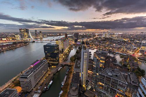 Skyline bij de nieuwe Maas