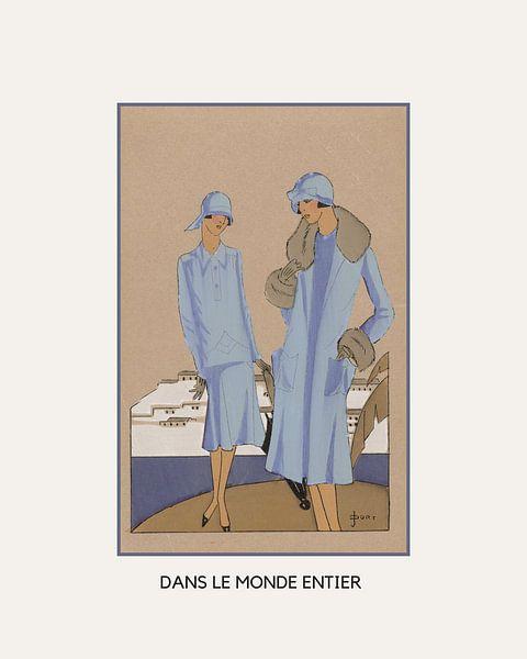 Dans le monde entier | Historischer Art Deco Mode Druck | Retro Mode | Historische Klassische Werbun von NOONY