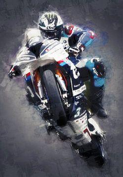 Ölgemälde-Porträt von Michael Dunlop von Bert Hooijer