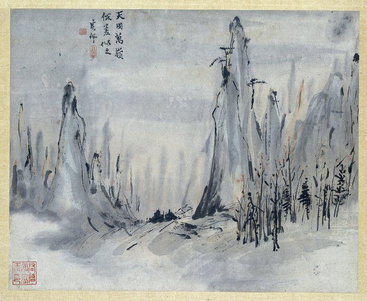 Chinese schildering, Gao Qipei, 1700 - 1750 van Marieke de Koning