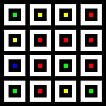 Nested | Center | 04x04 | N=02 | Random #01 | RGBY van Gerhard Haberern