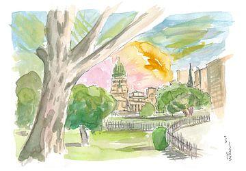 Buenos Aires Ontspannen in het park met uitzicht op het congres van Markus Bleichner