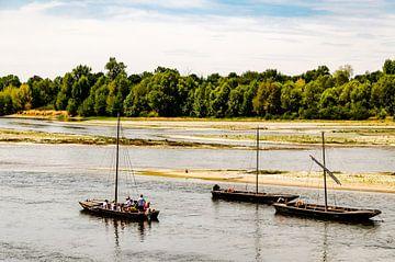 Zeilboten op de Loire in Frankrijk van Dieter Walther