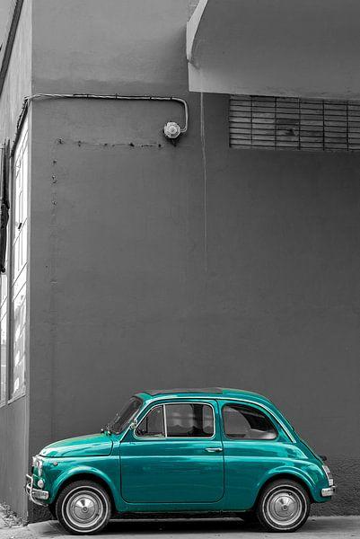 Groene Fiat 500