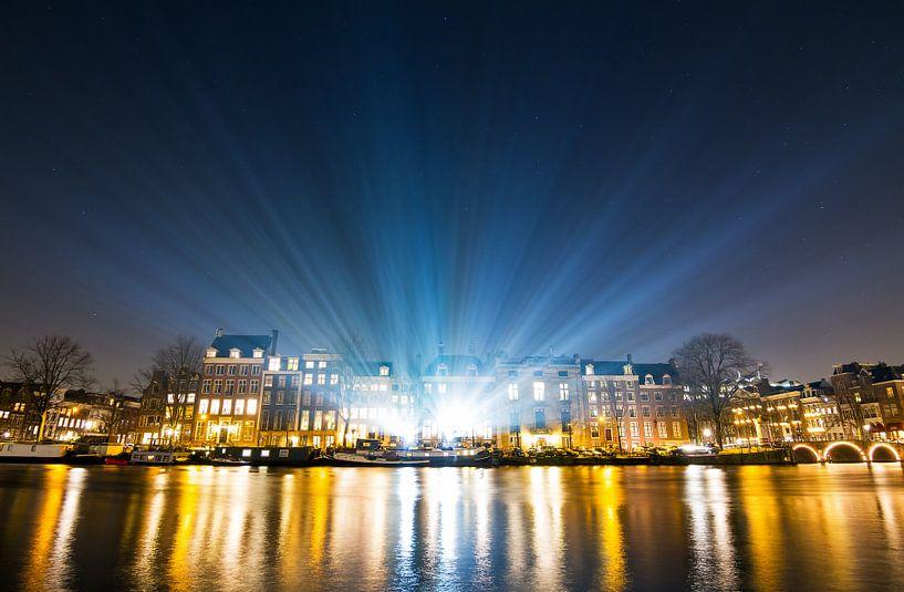 Amsterdam lichtshow van Dennis van de Water
