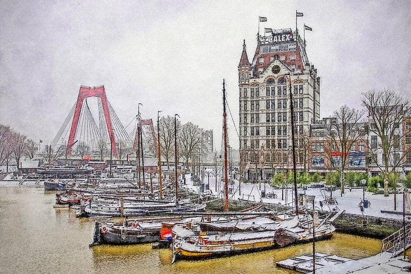 Winterbeeld Oude Haven van Frans Blok