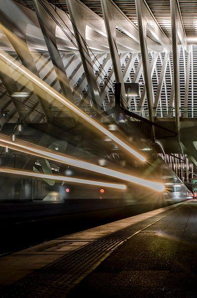 Trein departure Station Luik-Guillemins