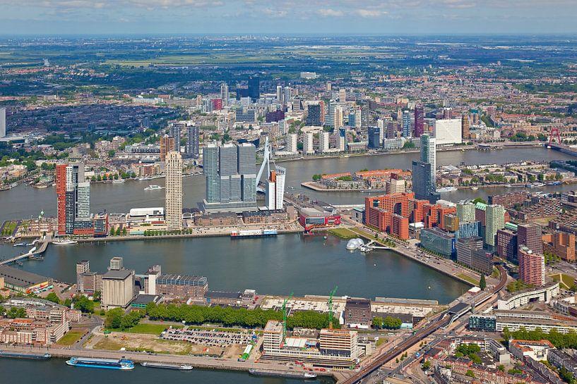 Luchtfoto Rotterdam van Anton de Zeeuw