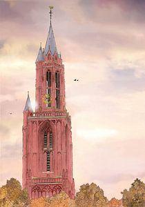 Kunstwerk: Maastricht, Het Vrijthof, Sint-Janskerkerk von Edo Illustrator