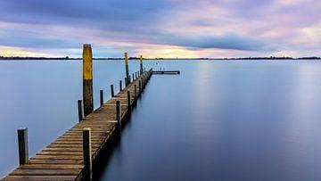 Zonsondergang Weerribben, Nederland van Adelheid Smitt