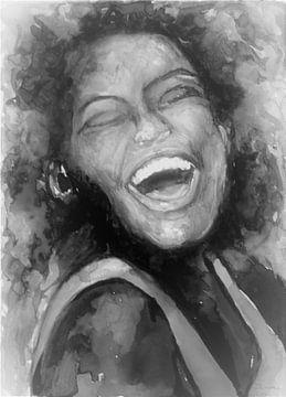 Lächelnde Frau. von Ineke de Rijk