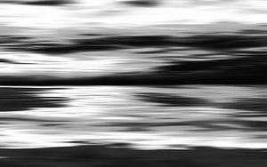 Zwart wit abstracte schilderij