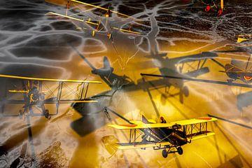 luchtgevecht propeller vliegtuigen van Pixel Meeting Point