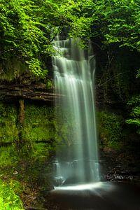 Long exposed beautiful waterfall in Ireland 2 van Boy  Driessen