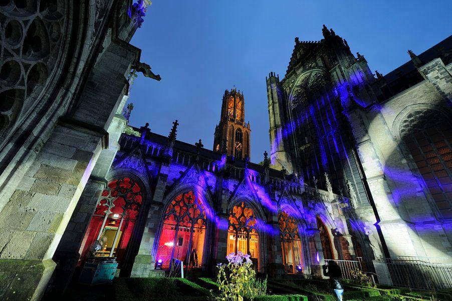 Het Pandhof bij de Domkerk in Utrecht tijdens de Museumnacht