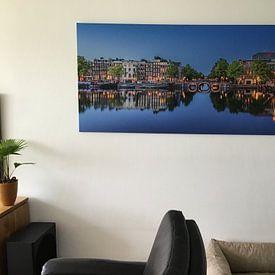 Klantfoto: Panorama Amstel en Koninklijk Theater Carré Amsterdam van Thea.Photo, op canvas