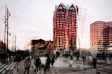 Blaaktoren Rotterdam auf dem Vormarsch. von Ellen Driesse
