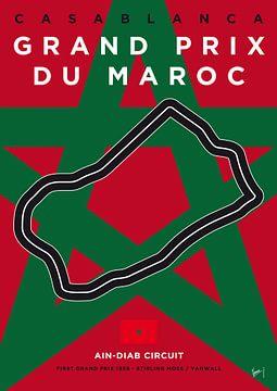 My F1 Casablanca Race Track Minimal Poster van Chungkong Art