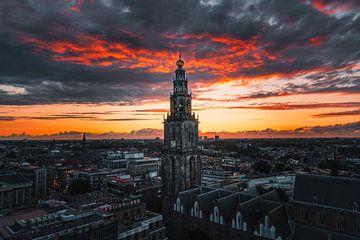 Martinitoren  Groningen skyline van Harmen van der Vaart