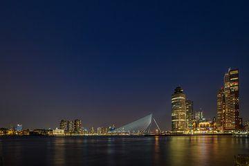 Skyline van Rotterdam. van Johan Kalthof