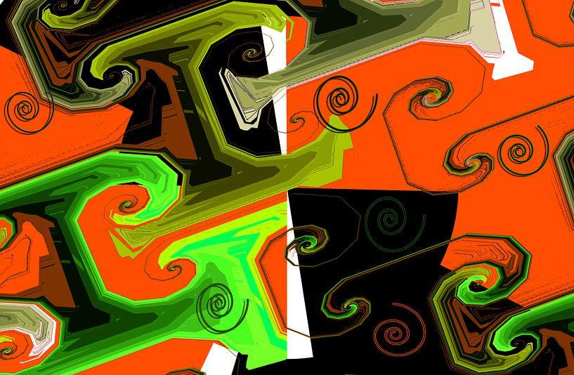 Abstrakte spiralen2 van Rosi Lorz