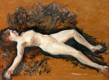 Weiblicher Akt, Francis Augustus Lathrop (1895) von Atelier Liesjes