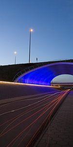 the blue tunnel van